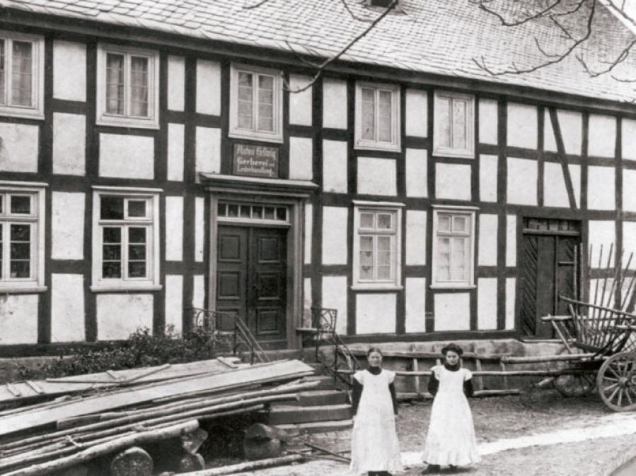 Haus van Dyck (Blofärbers), Kirchstraße, Aufnahme von ca. 1900